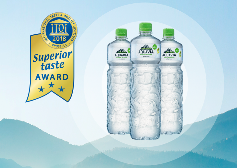 AquaVia Honored with Superior Taste Award